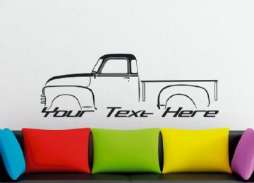 Large Custom car silhouette wall sticker - for 1947 Chevrolet advance design classic pickup truck